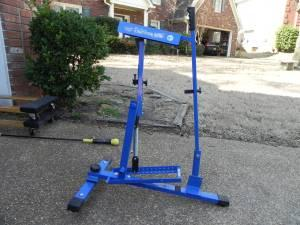 blue pitching machine for sale
