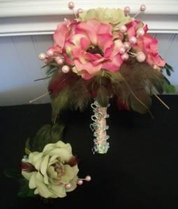 Lovely Anemones, Wild Rose, and Grapevine Birds Nest