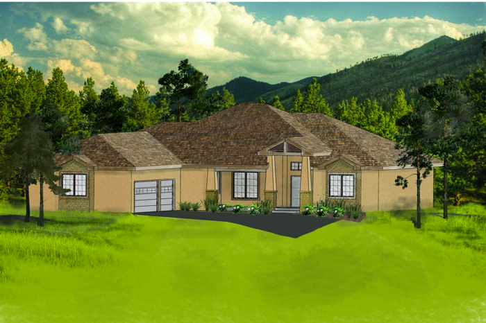 Lovely custom ranch style home to be built for sale in for Ranch style homes in colorado