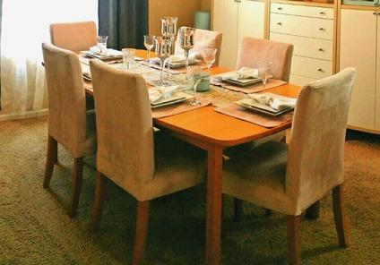 Lovely Dining Room Set- Table with 8 Chairs- Ikea