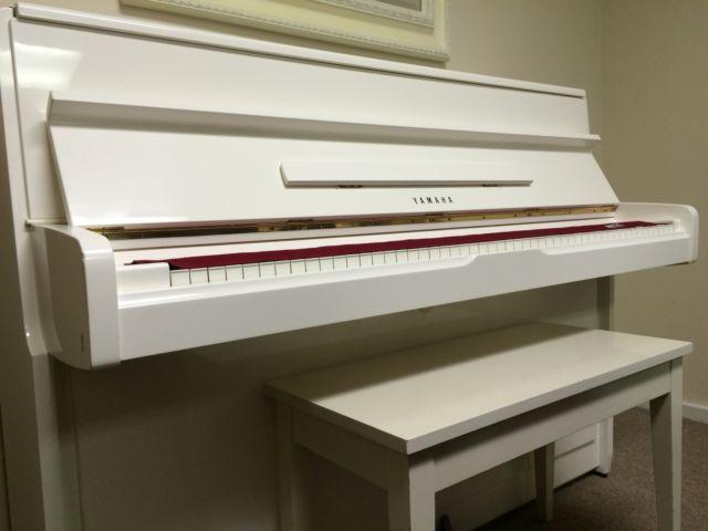 LOVELY PURE WHITE YAMAHA UPRIGHT PIANO for Sale in Lower ...