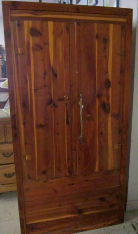 Lovely Vintage Antique Murphy 210 Cedar Wardrobe With Lock  Key