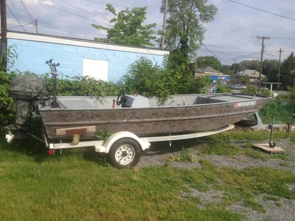 Lowe 1860 jon boat 40hp susuki outboard for sale in for Outboard motors for sale maryland