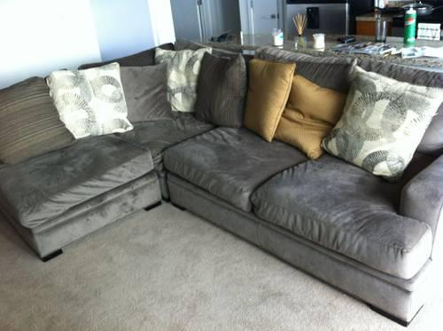 Lower Price Barely Used Sectional Couch Comfy 3 Piece
