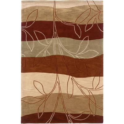 LR Resources Contemporary Rust and Ivory Rectangle 5