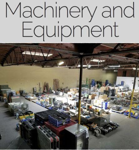 Machinery & Equipment Warehouse Downsizing **