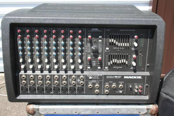 Mackie 808M FR 2x600W StereoMain-Mon 8 Channel Powered Mixer wCase - $400
