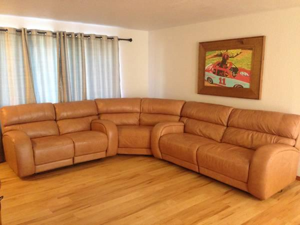 Macy 39 S Leather Damon Sectional Sofa For Sale In Yakima