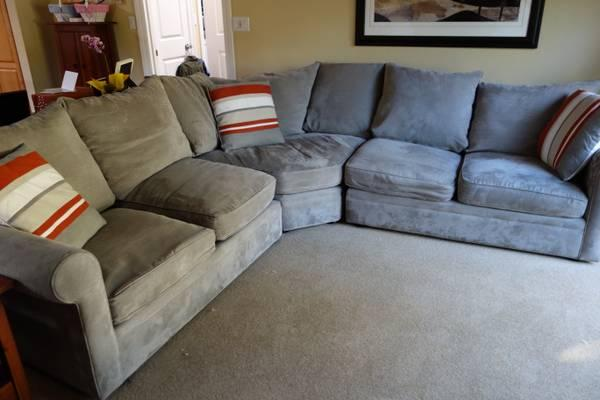 macys microfiber sectional sofa for sale in san carlos california classified. Black Bedroom Furniture Sets. Home Design Ideas