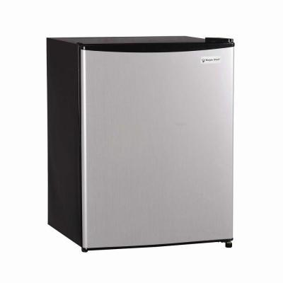 magic chef 2 4 cu ft mini refrigerator in stainless steel look for sale in newbury park. Black Bedroom Furniture Sets. Home Design Ideas