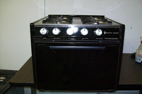 Rv Stove Oven >> Magic Chef Rv 4 Burner Gas Stove Oven Camper Stainless Top Glass