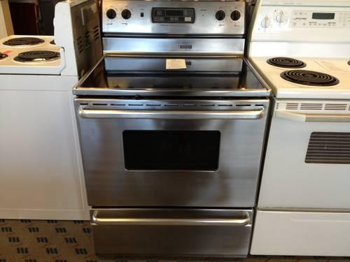 magic chef stainless steel electric range stove oven - used for sale