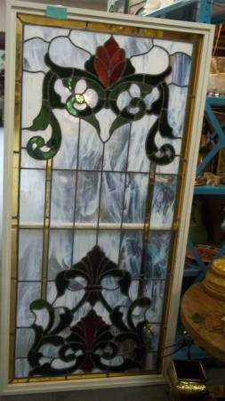 MAGNIFICENT LEADED STAINED GLASS WINDOWS