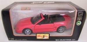 MAISTO 1:24 DIE CAST MODEL 1994 MUSTANG GT - $25 ( Fleming Island/Orange Park)