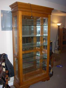 Make An Offer Solid Oak Curio Cabinet Display Lights Amp Glass Shelves For Sale In Springfield