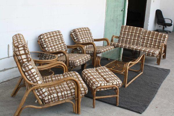 MAke Me an fer Vintage Mid Century Asian inspired Rattan Set Louisville f