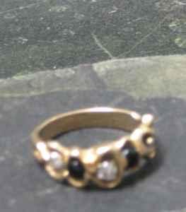 Mans Wedding band wblack onyx and diamonds - $600 Redmond