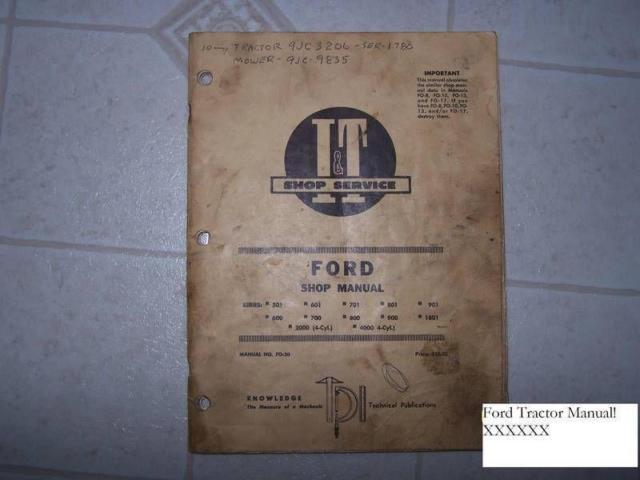 Manual Ford Tractor IT Brand