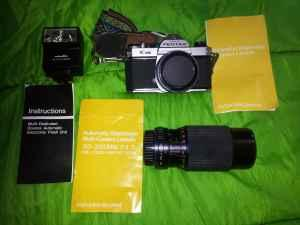 Manual PENTAX K1000 CAMERA With 2 Lenses & Electronic