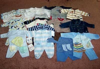 many 33piece lots baby clothes 0 24mo and much more for sale in