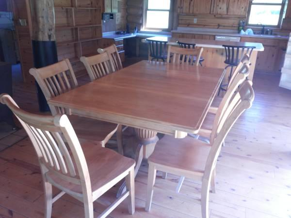 Maple Dining Room Set For 6, Expands To Seat 12   $3500