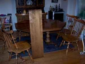 Maple Dining Table + 6 Chairs - $350 (Fresno)