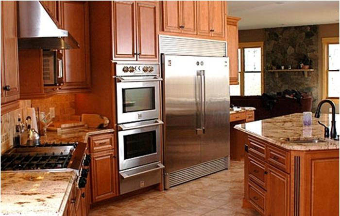 Honey Maple Kitchen Cabinets For In Peoria Illinois