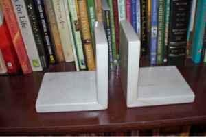 Marble bookends - $10 (Lexington)