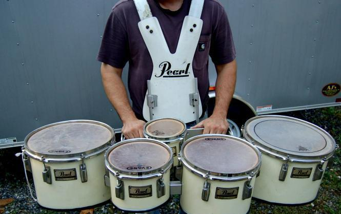 Marching band quints drum set kit harness pearl - Craigslist harrisburg farm and garden ...