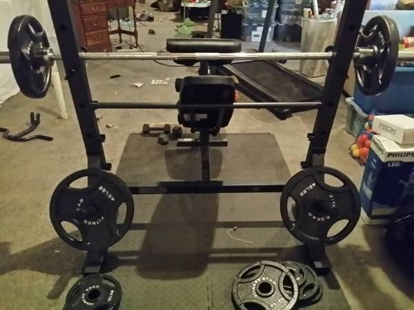 Marcy Diamond Olympic Surge Bench 300lb Weight Set For