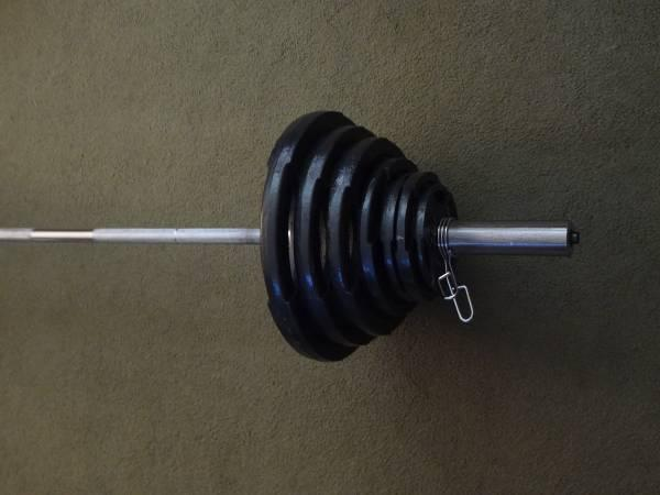 Marcy Pro Olympic Weight Bench  300LB Olympic Weight Set - $300