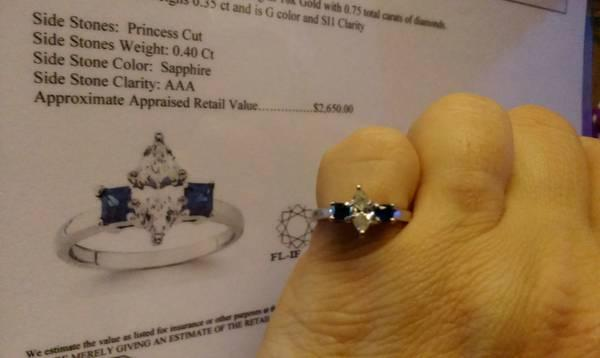 Marquise Diamond Engagement Ring - $800