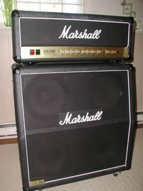 Marshall JCM-2000 DSL 100 watt Head and Marshall JCM 900 Lead 1960 4x1