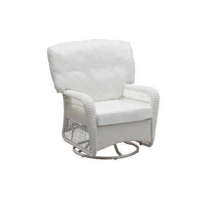 Phenomenal Martha Stewart Living Charlottetown White All Weather Wicker Uwap Interior Chair Design Uwaporg