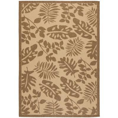 Martha Stewart Living Paradise Cream Brown 8 Ft X 11 Ft 2 In Indoor Outd