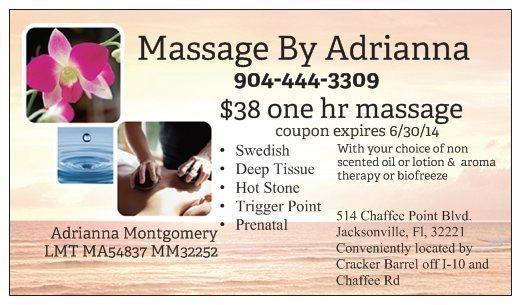 Massage by Adrianna www.jacksonvillemassage.info in ...