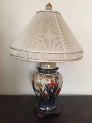 Matching Cloisonné Ginger Jar Table Lamps