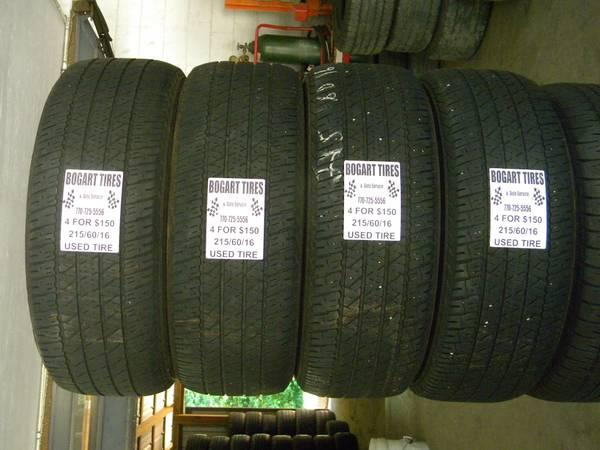 Matching Set of Four 205/70/16 and 215/60/16 - $150