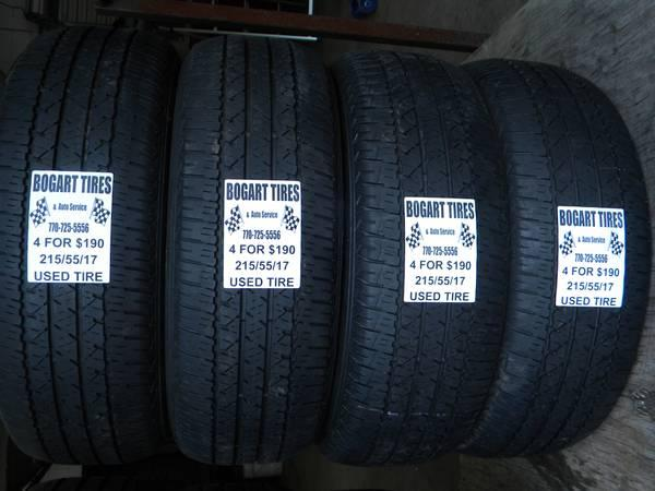 Matching Set of Four 215/55/17 and 225/45/17 - $190
