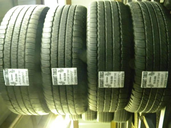 Matching Set of Four 245/65/17 and LT245/75/17 - $190