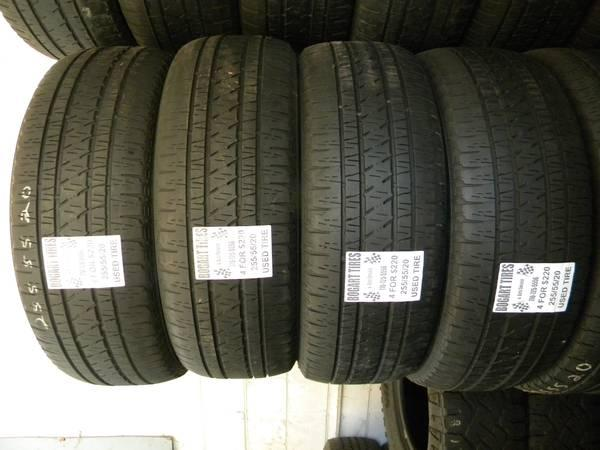 Matching Set of Four 275/55/20 and 255/55/20 - $220