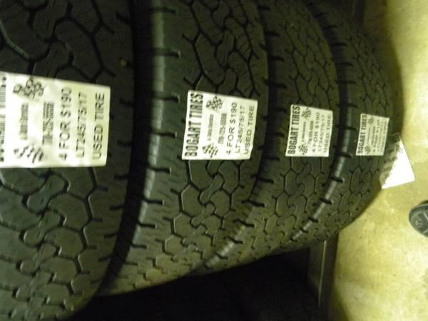 Matching Set of Four LT235/80/17 and LT245/75/17 - $190