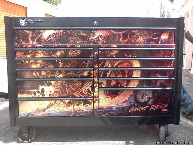 Matco Double Bay Toolbox with Ghost Rider graphics for ...