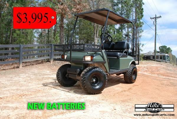 Matte Green and Matte Black Electric Hunting Carts