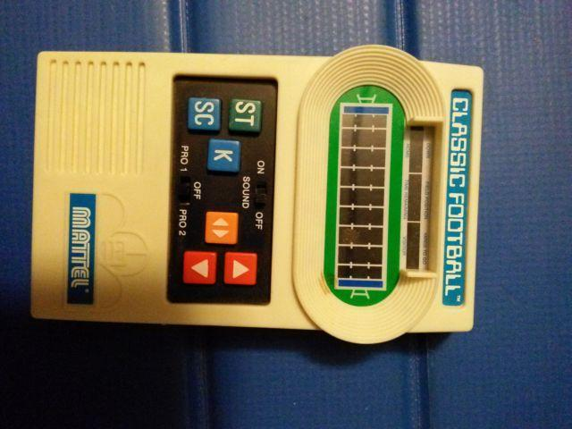 Mattel Handheld Classic Football Electronic Game works