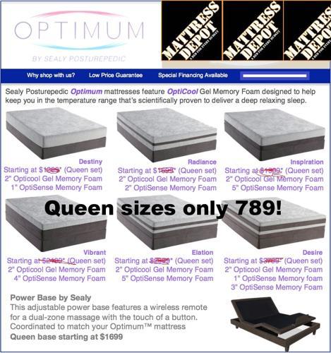 Mattress Depot Az Deal Of The Day. Sealy Optimum Gel Bed