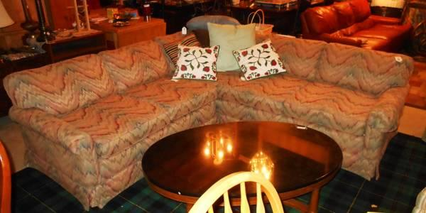 Mauve Verigated Sectional Sofa Couch For Sale In Jackson Michigan Classified