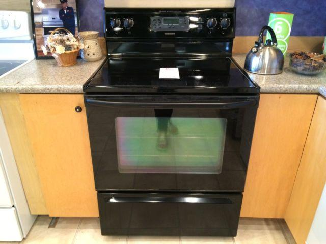 Maytag black smooth top range stove oven used for sale for Lakewood wood stove for sale