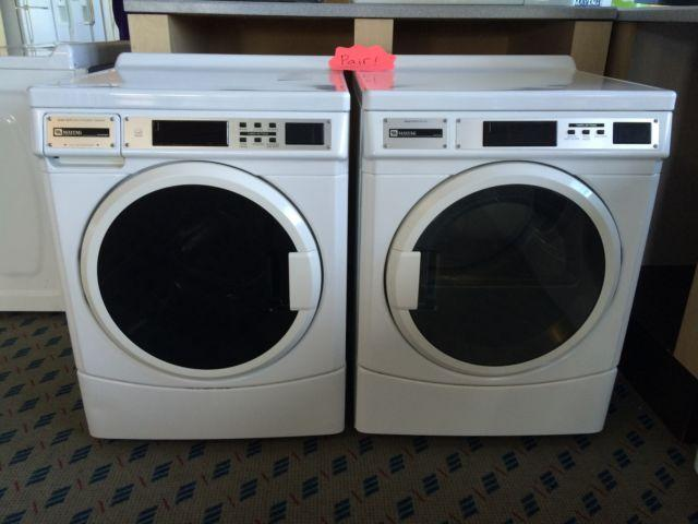Maytag Commercial Front Load Washer Dryer Used For
