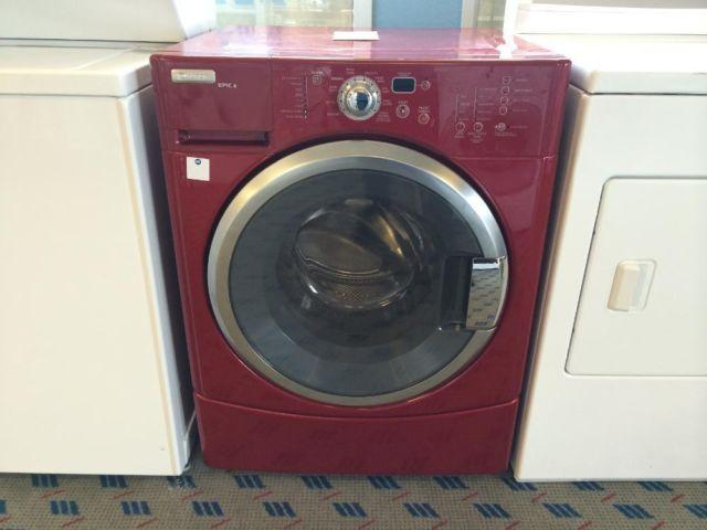 Maytag Epic Z Cranberry Front Load Washer Washing